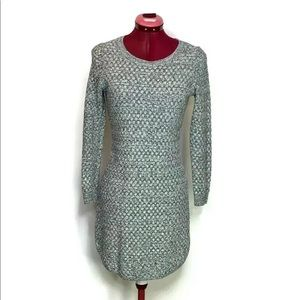 Loft Ann Taylor Dress SP Grey Knit Texture…